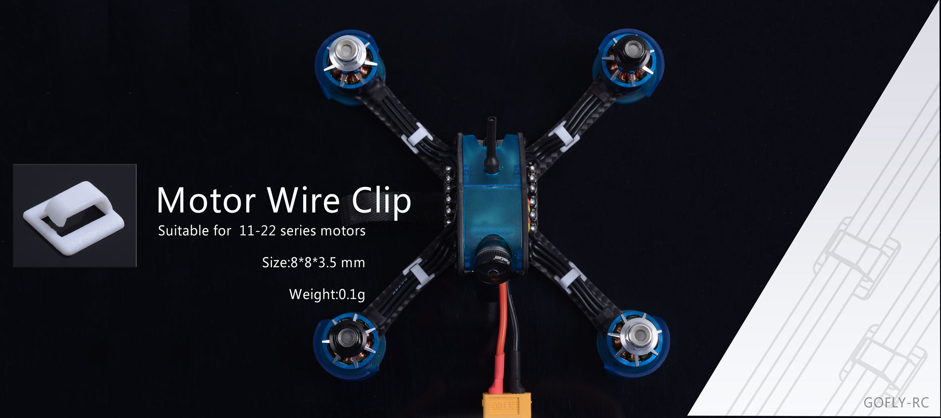 GOFLY-RC Motor Wire Clip
