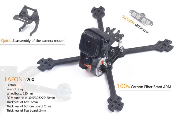 GOFLY RC LAFON 220 FPV Racing Drone Frame Kit 2