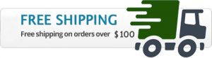 free shipping order over 100 usd