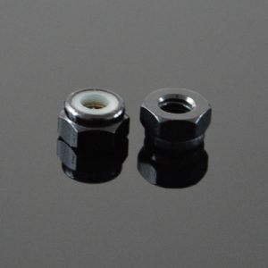 10Pcs M2 Self-locking Nylon Nut Aluminum Alloy Black