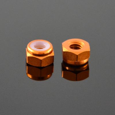 10Pcs M2 Self-locking Nylon Nut Aluminum Alloy Gold