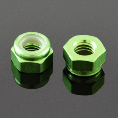 10Pcs M2 Self-locking Nylon Nut Aluminum Alloy Light Green