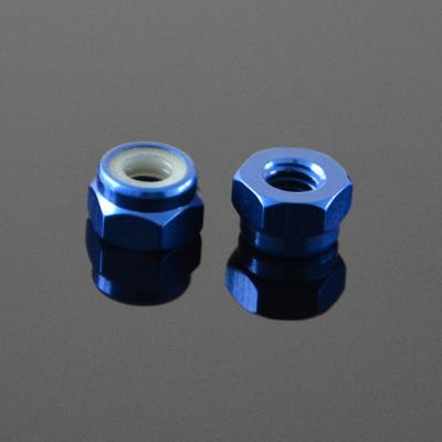 10Pcs M2 Self-locking Nylon Nut Aluminum Alloy Royal blue