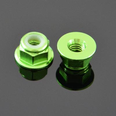 10Pcs M3 Flange Nylon Nut Self-locking Nut Colorful Aluminum Alloy Light Green