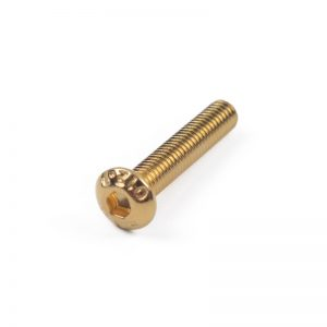 20Pcs M3 Half Round Head Plating Titanium Gold Hex Screw 4